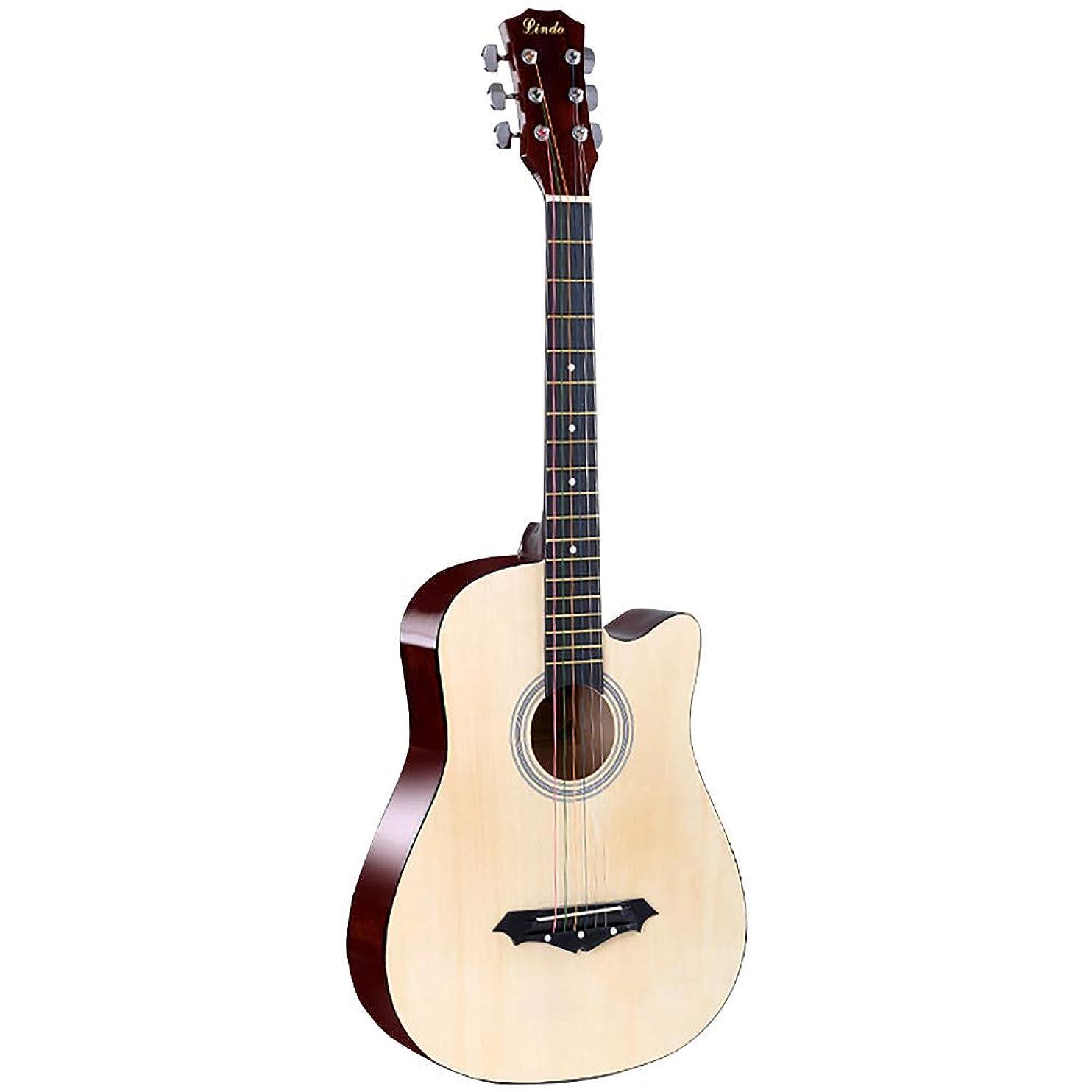 機関車シンジケートハイブリッドJizhilin ミニ アコースティックギター 入門用 初心者 フォークギター クラシックギター アコギ コンパクトギター トラベルギター プレゼント (ナチュラル)