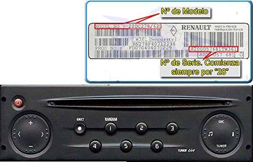 Renault - Equipo de radio y CD para Renault Clio, Megane y Scenic