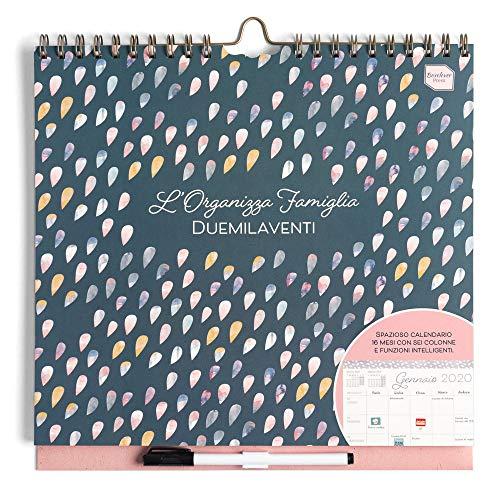 Boxclever Press L'Organizza Famiglia calendario 2020 da muro. Calendario della famiglia 2020 accademico, planner settimanale con 6 colonne. Inizia Ora e dura fino Dicembre 2020. Misura 30.5 x 30.5cm