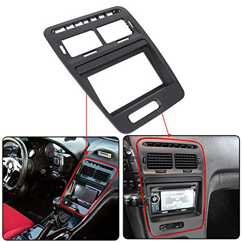ECOTRIC Double Din Radio Bezel with Stock Finish Compatible with 1990-1999 for Nissan 300ZX