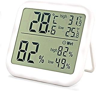 YIN YIN, Medidor - Termómetro higrómetro Digital, Medidor de Temperatura Interior, Monitor de Humedad con Pantalla LCD Gra...