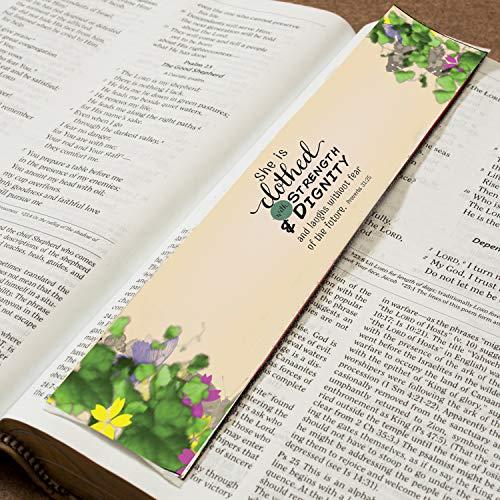 Lukas Media LLC Bookmark-Carpet-Strength And Dignity Proverbs 31:25-Logos Bookmark