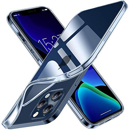vau SoftGrip Hülle kompatibel mit iPhone 12/12 Pro (6.1) Hülle dünn & transparent aus Silikon