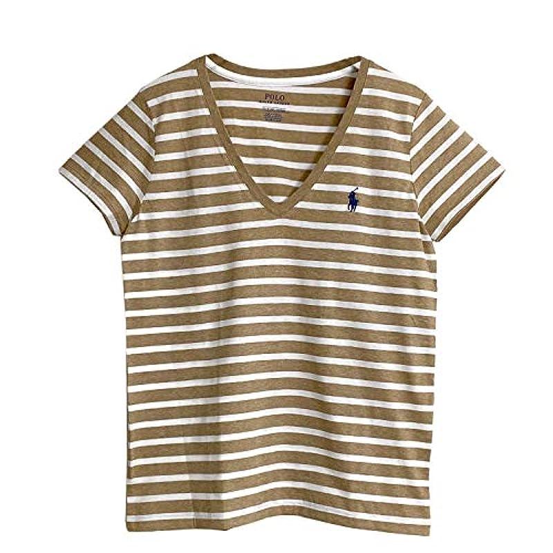 POLO Ralph Lauren 여성 코튼 V 넥 국경 티셔츠 [5색상]