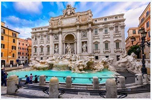 N\A Geschenk Intelligenz Puzzles - Architecture and Landmark of Rome Postcard of Rome - Puzzle Für Erwachsene Jugendliche 500 Stück Jigsaw Puzzle Lernspielzeug