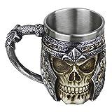 Mug Creative Coupe du Crâne 3D Tasse de Café en Résine Boire Tasse de Thé Chope Mug pour Maison/Bureau/Partie/HalloweenTasse à Café en Acier Inoxydable Résine de voyage Thé Vin Chopes à Bière