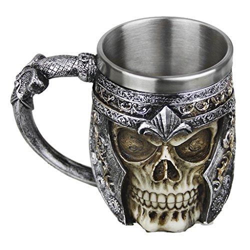 Taza creativa con diseño de calavera 3D de resina para beber, taza...