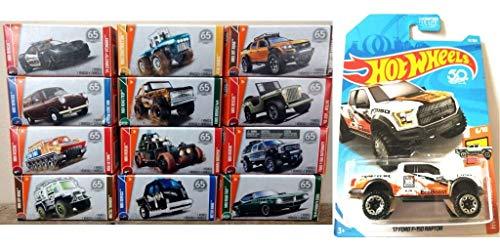 Hot Wheels Matchbox Power Grabs Die-cast Vehicles (12 Boxes - Colors and Styles May Vary) with Bonus 2017 Ford Raptor