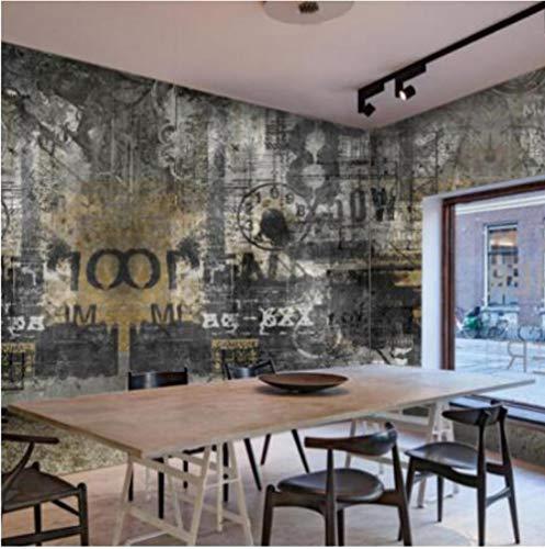 Dianer Europese retro stijl oude muur graffiti fotobehang voor woonkamer slaapkamer restaurant decor 3D behang Afmetingen: 200 x 140 cm.