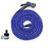 SFSGH Gartenschlauch, expandierendes Gartenwasserschlauchrohr mit 7-Funktions-Spritzpistole, 3-Fach erweiterbarer Wasserschlauch , Flexibler Magic Hose Anti (Farbe: Blau, Größe: 15M)