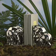 Royal Selangor Hand Finished Wild Collection Pewter Elephant Book Ends