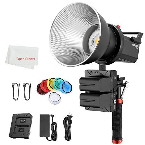 AMBITFUL FL80 Bowens Mount COB LED lampada video 80 W 5600 K luce diurna CRI96 + 5 TLCI pre-programmati 95 + illuminazione con 2 batterie NP970 adatto per esterni
