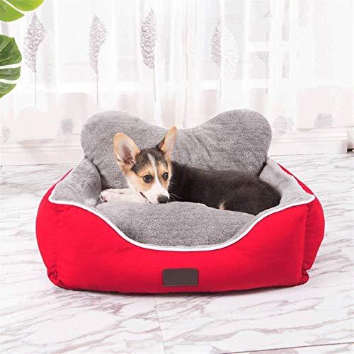 Leifeng Tower Lujo Cama de Perros Pecute: Lavable, higiénica y Antideslizante, cálida Cama de Perro de Lujo Lujoso Saco de Dormir, Gris [Dentro de 20 kg] (Color : Red)