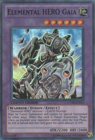 Yu-Gi-Oh! - Elemental Hero Gaia (CT08-EN011) - 2011 Collectors Tins - Limited Edition - Super Rare