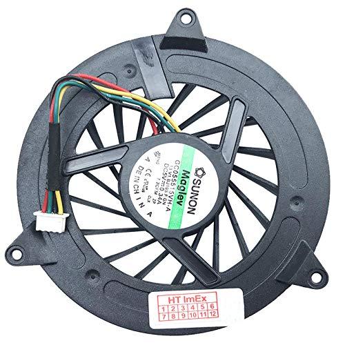 Ventilador compatible con Dell Studio 1555, PP39L, 1535 y PP33L (4 pines)