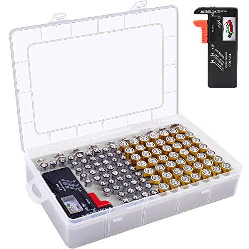 Batterie Aufbewahrungsbox - Batterien Aufbewahrung Organizer (AA+AAA+3V+Tester)