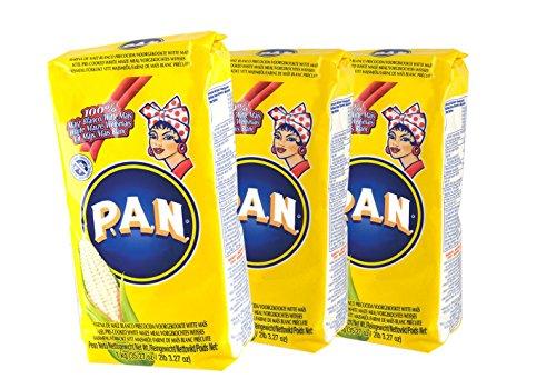 Weisses feines Maismehl, vorgekocht, Kolumbien - Venezuela, Beutel 1,0kg - Harina de Maiz Blanco precocida , 1kg, 3er Sparpack 3 x 1kg.