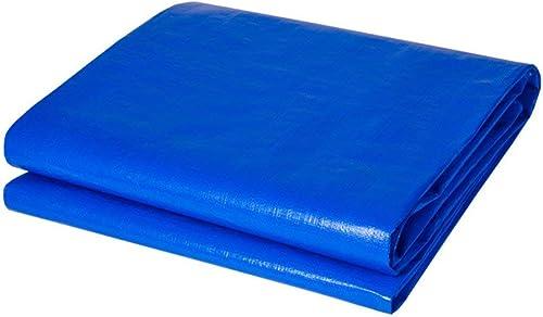 ATR Bache Légère Imperméable Robuste Résistant Camping Couverture Sol Tapisserie épaisseur De Bache 0.45mm 200g   m \u0026 sup2; Facile à Transporter (Couleur  Bleu, Taille  6  10m)