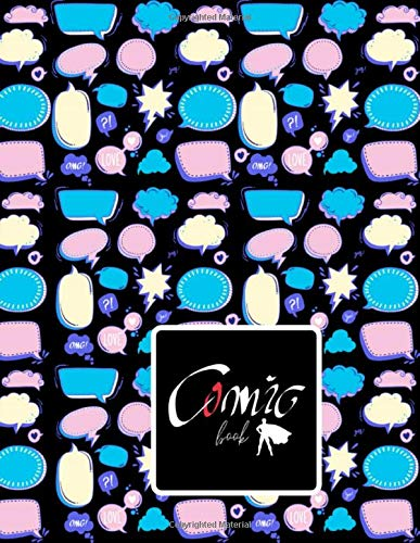 Comic BOOK: BLACK PAPER for gel pen. Black interior. 110 pages For Students, Adults and all color lovers. Perfectly for Metallic Gel Pens, Pastel or ... Drawing, Doodling and growing your creativity