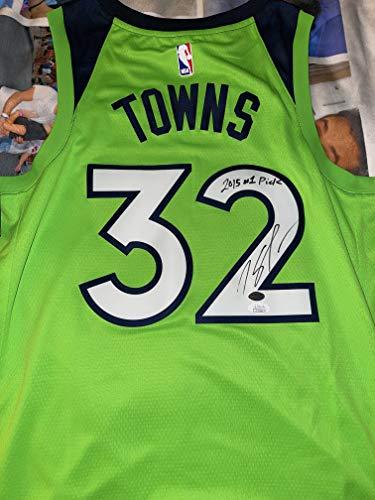 Karl-Anthony Towns authentic signed & inscribed Minnesota Timberwolves Nike NBA Swingman jersey JSA COA