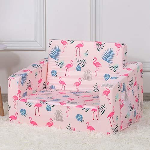 Kid Sofa Chair, Children's 2 in 1 Flip Open Foam...