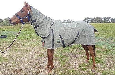 "RUMANI 20oz Superior Waterproof Canvas Wool Lined Horse Rug Combo 4'6"" - 6'6"""