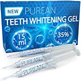 Purean Teeth Whitening Gel Refills - Pack of 3 x 5ml - 35% Tooth Bleaching Carbamide Peroxide Gel Syringes - Professional Dental Grade Bleaching Formula