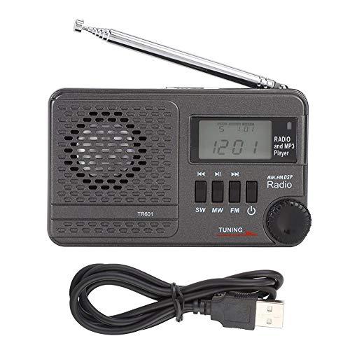 Lafey Altavoces Sonido Radio FM Receptor de Radio económico Reproductor de MP3 de Alta sensibilidad para niños Mayores Entretenimiento Musical