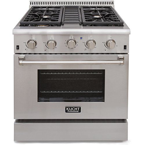 "Kucht 3078u Pro-Style 30"" Stainless Steel Gas Fuel Sealed Burner Range - Convection"