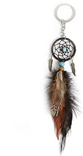 Little Chair Feather Leaf Beads Dream Catcher Keychains Keyrings Bag Hanging Acc.