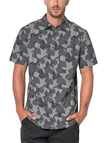 Jack Wolfskin Men's Hot Chili Marble Shirt Short Sleeve, 3X-Large, Pebble Grey All Over