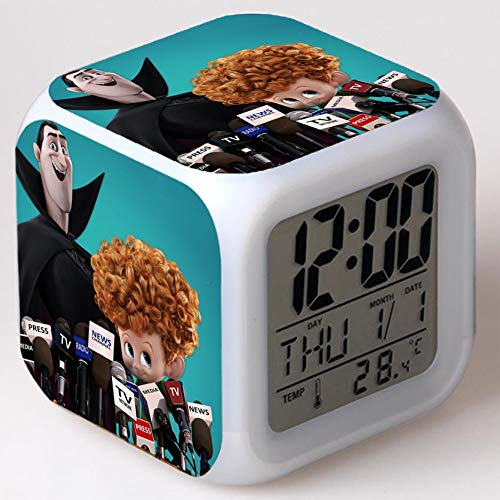 Kids Wizard Hostel Alarm Clocks Kids LED Clock Cartoon Night Light Flash 7 Color Changing Digital Clock Electronic Desk Clock a18