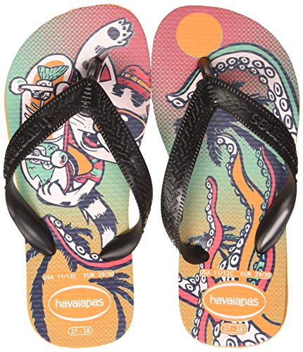 Havaianas Radical, Chanclas Unisex Niños, Multicolor (Vibrant Orange 7608), 23/24 EU