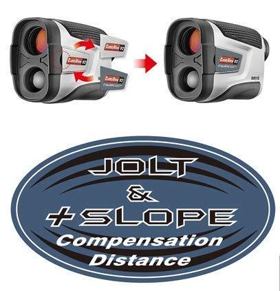 CaddyTek Unisex CaddyView V2 + Jolt & Slope Golf Laser Entfernungsmesser mit Slope und Jolt Funktion, Silber, One Size