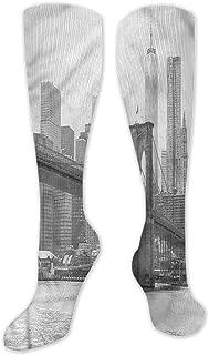 Pattern Socks,Socks Women,Women Casual,Socks Landscape Bridge And Old Boat