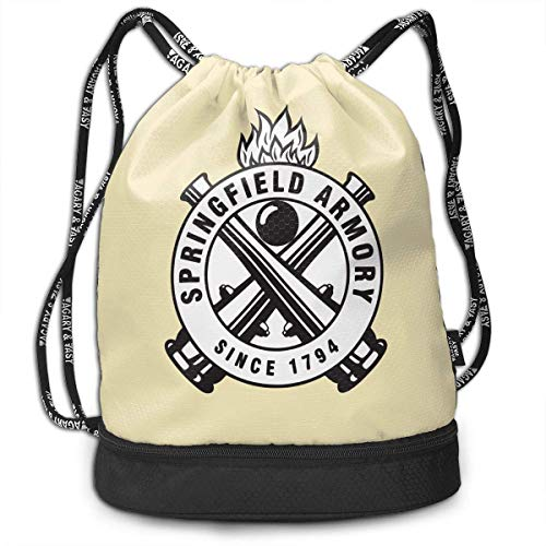 Mochila con cordón Springfield Armory Since 1794 Drawstring Backpack Rucksack Shoulder Bags Training Sack For Gym Sports
