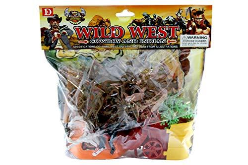 Spielzeug-Händler, Umschlag Cow Boys Indianer mit Verdauungsfiguren, Mehrfarbig, 8010362440064