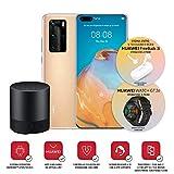 """Huawei P40 Pro con Bluetooth Speaker, Acoustic Display da 6.58"""", Quattro Fotocamere Leica da 50 + 40 + 12 MP e Sensore TOF, Kirin 990 5G Octa Core, Oro, Versione Italiana"""