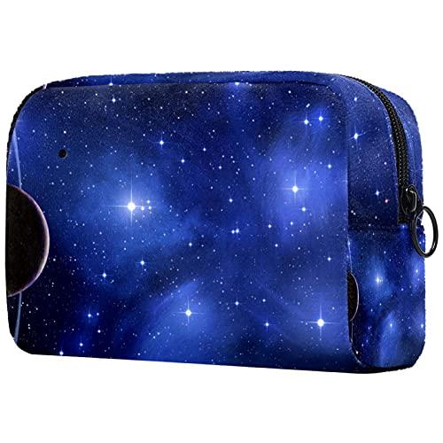 Borsa cosmetica da viaggio Set con cerniera borse per il trucco per le donne Multifunzione Organizzatore Sacchetto di Immagazzinaggio Organizzatore per Borsa Galaxy Space Planet