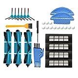 NICERE Recambios de aspirador de barrido robot accesorios, adecuado para Conga 3090 máquina de barrido, cepillo principal lado cepillo trapo filtro conjunto