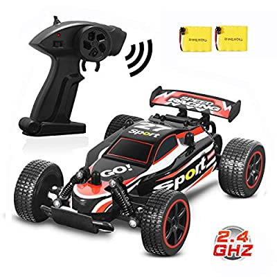 Blexy RC Racing Cars 2.4Ghz RC Cars High Speed Vehicle 1:20 2WD Radio Remote Control Racing Toy Cars Electric Fast Race Buggy Hobby Car for Kids Gift (Red)