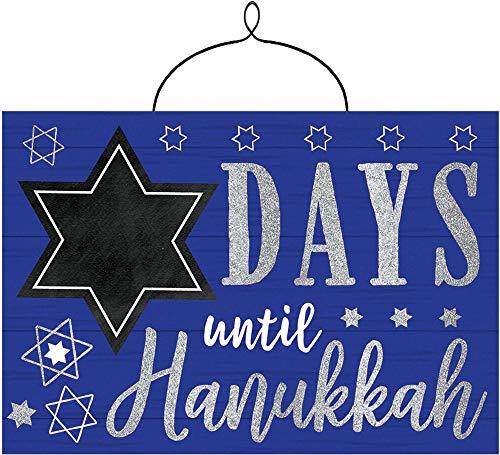 Countdown to'Days Until Hanukkah' Hanging Sign, 10.5' W x 7.3' H, 1ct