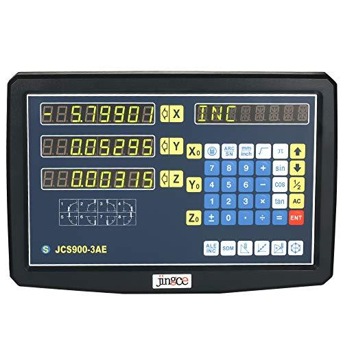 Digitalanzeige, Baugger- Werkzeugmaschine Digitalanzeige 3-Achsen-Gitter CNC-Fräsen Digitalanzeige Elektronische Linearwaage Digitalanzeige 85-265V JCS900-3AE