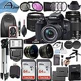 Canon EOS 850D / Rebel T8i Digital SLR Camera w/EF-S 18-55mm f/4-5.6 is STM & EF 75-300mm f/4-5.6 III Dual Lens, 2 Pack SanDisk 64GB Memory Card, Backpack, A-Cell Accessory Bundle