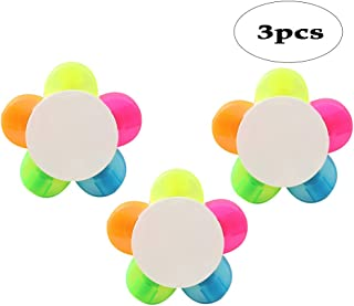 BinaryABC Petal Highlighter,Flower Shape Highlighter,Fluorescent Watercolor Marker Pen 3Pcs(5 Colors)