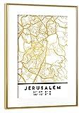 artboxONE Poster mit Rahmen Gold 30x20 cm Jerusalem
