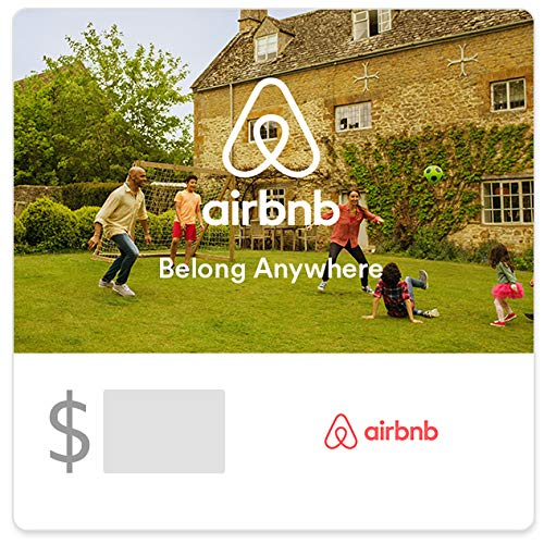 Airbnb Soccer Gift Cards - E-mail Delivery