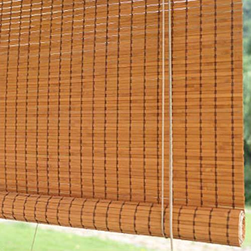 Store en bambou 90% Blackout-Datenschutz Bambus Rollläden mit Haken, Außen Montierte Jalousien für Patio Balkon, 55/75/95/115/135 cm Breit (Size : 55×210cm/21.7×82.7in)