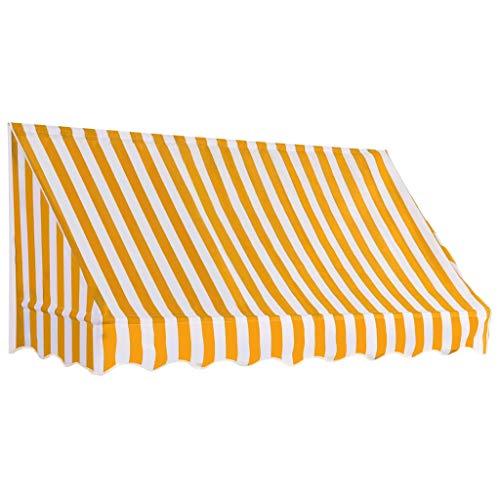 Festnight 200x120 cm Toldo para Bar/Accesorios Casa Jardín Terraza para Salón, Tienda o Cualquier Otro Establecimiento, Naranja y Blanco
