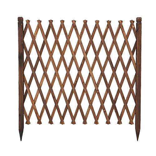 Extendible Holzzaun, Eingefügt Holzkletterpflanze Wachsende Stützsieb, benutzt for Hof Trennwand Dekoration, Hundezaun, etc. (Size : 133x220cm)
